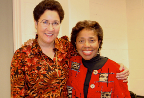 With composer Tania León at NJCU, 2007.