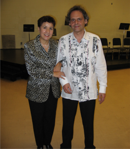 With Roland Dyens at NJCU, 2005.