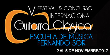 AMR At V Fernando Sor International Classical Guitar Festival In Bogotá, Colombia